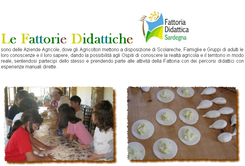 Fattorie Didattiche della Sardegna, tutte le informazioni dal Portale del Turismo Le Vie della Sardegna