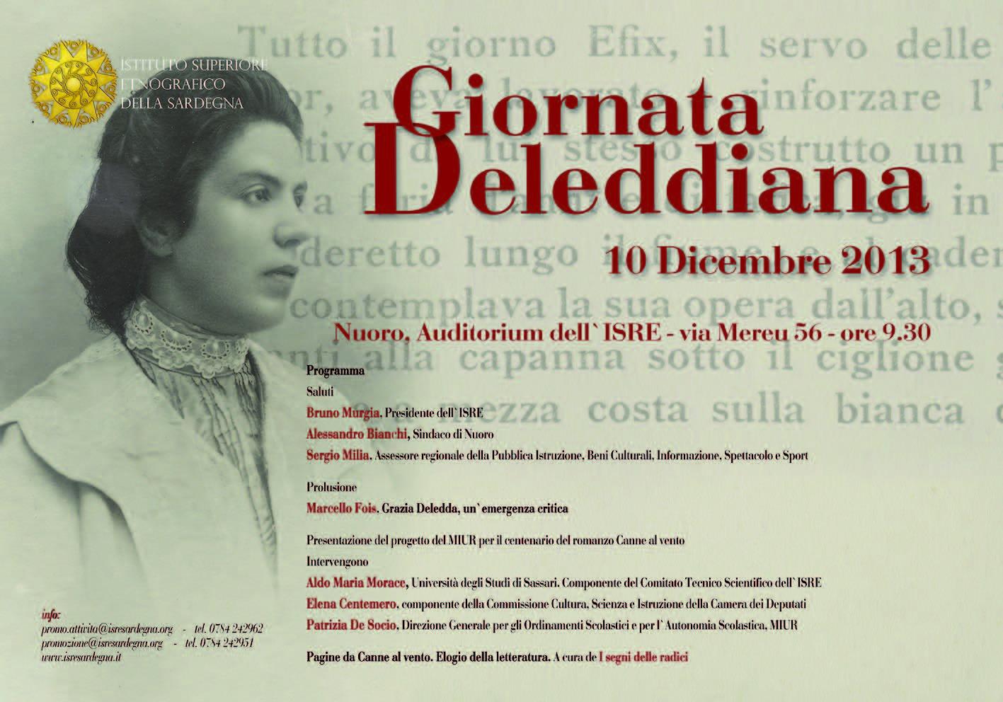 Giornata deleddiana 10 dicembre 2013 Istituto Superiore Etnografico della Sardegna Nuoro