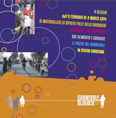 Carnevale 2014 a Ollolai dal 8 febbraio al 9 marzo 2014