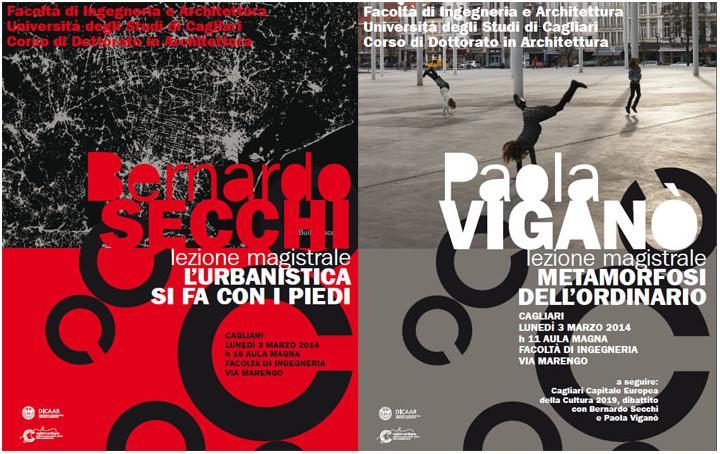Cagliari Architettura il 3 marzo lezioni magistrali di Bernardo Secchi e Paola Viganò