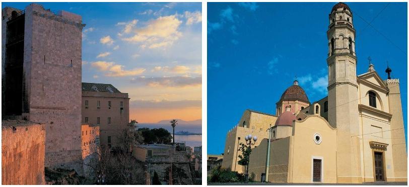 Cagliari due immagini della Città Capoluogo di Regione della Sardegna