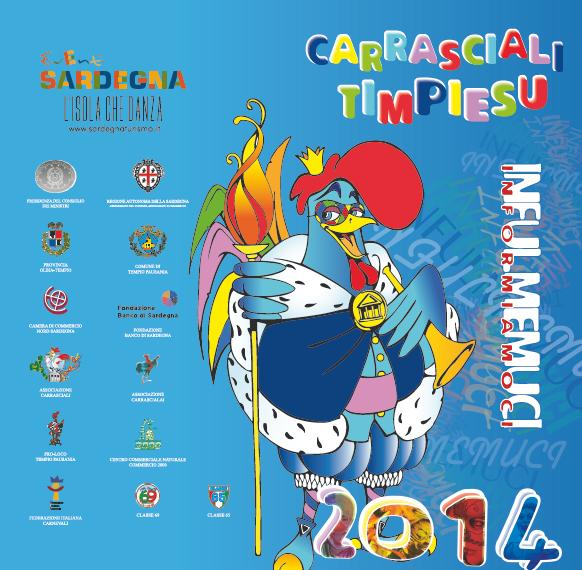 Carnevale di Tempio 2014 Carrasciali Timpiesu Programma completo