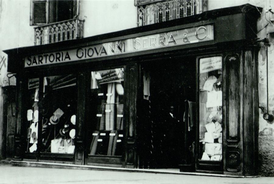 Foto storica sartoria di Cagliari Quando tutto era sotto casa