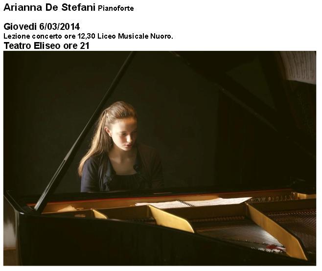 Arianna De Stefani pianoforte
