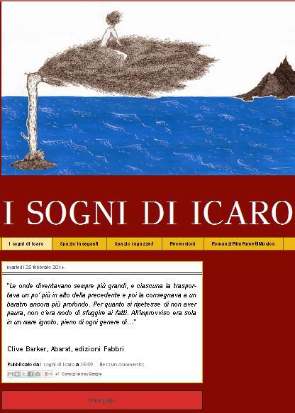 Blog il sogno di Icaro