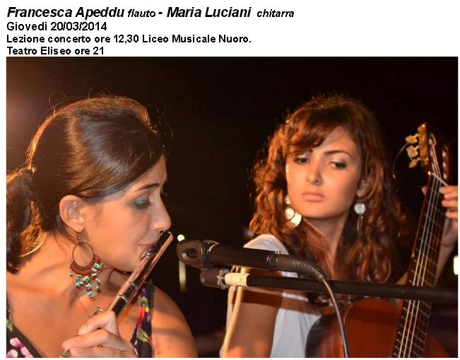 Francesca Apeddu flauto - Maria Luciani chitarra