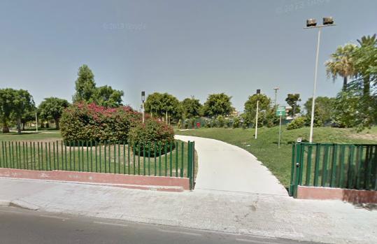 Parco Giovanni Paolo II ingresso Via del Nastro Azzurro Cagliari