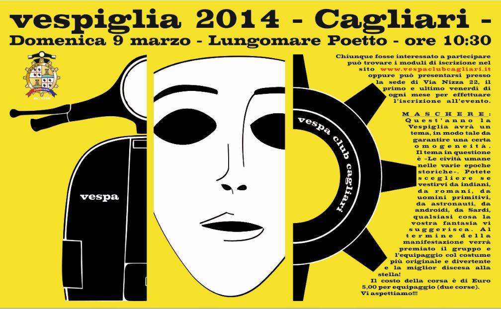 Vespiglia 2014 Cagliari Domenica 9 marzo Lungomare Poetto