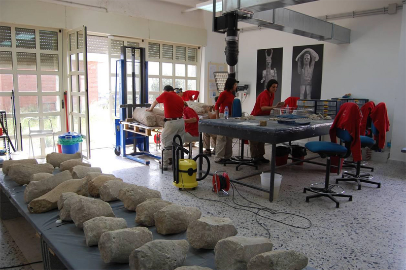 laboratorio restauro di lipunti dei monte prama