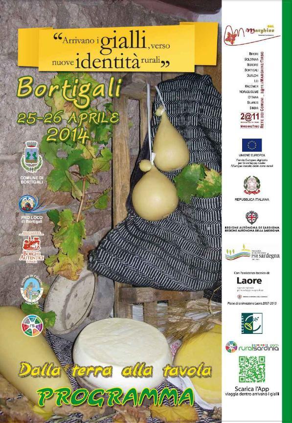 Botigali 25 e 26 aprile 2014 Dalla Terra alla Tavola programma Evento