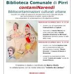 "Cagliari: dal 16 aprile 2014 presso la Biblioteca Comunale di Pirri inizia ""ContamiNarendi"" Bibliocontaminazioni culturali urbane."