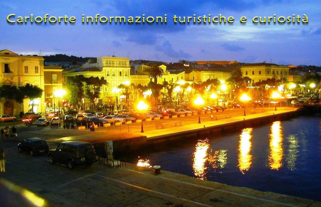 Carloforte il porto di notte - informazioni turistiche