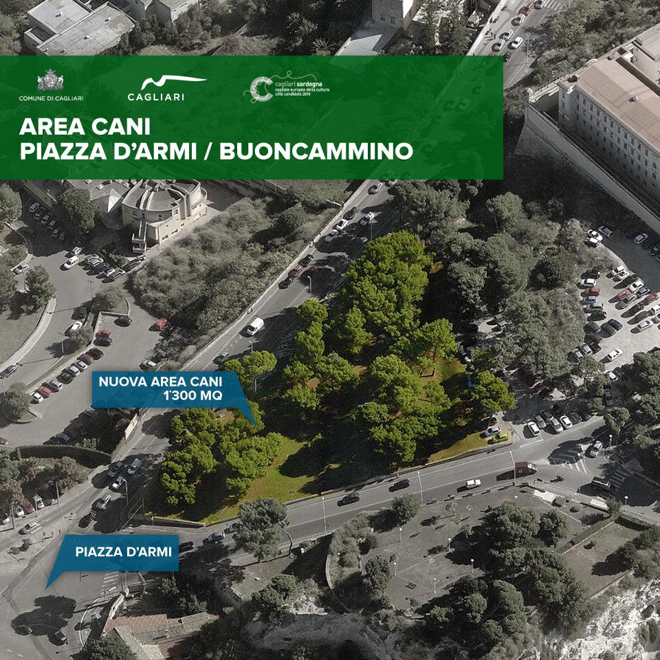 A Cagliari nuova area verde in città con una superficie complessiva di circa 8.500 mq. di cui 1.300 mq. dedicata agli amici cani 14 aprile 2014.