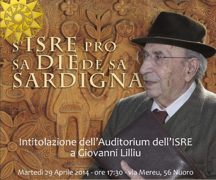 Intitolazione dell'Auditorium dell'ISRE a Giovanni Lilliu Martedì 29 Aprile 2014