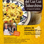 """Carloforte sabato 26 a domenica 27 aprile 2014 """"XII Sagra del Cus Cus Tabarchino""""."""