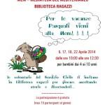 Cagliari: Per le vacanze Pasquali vieni alla Mem!!!! IL 17, 18, 22 Aprile 2014 dalle ore 10:00 alle ore 12:30 per bambini dai 4 ai 10 anni le volontarie del Servizio Civile ti invitano in biblioteca…