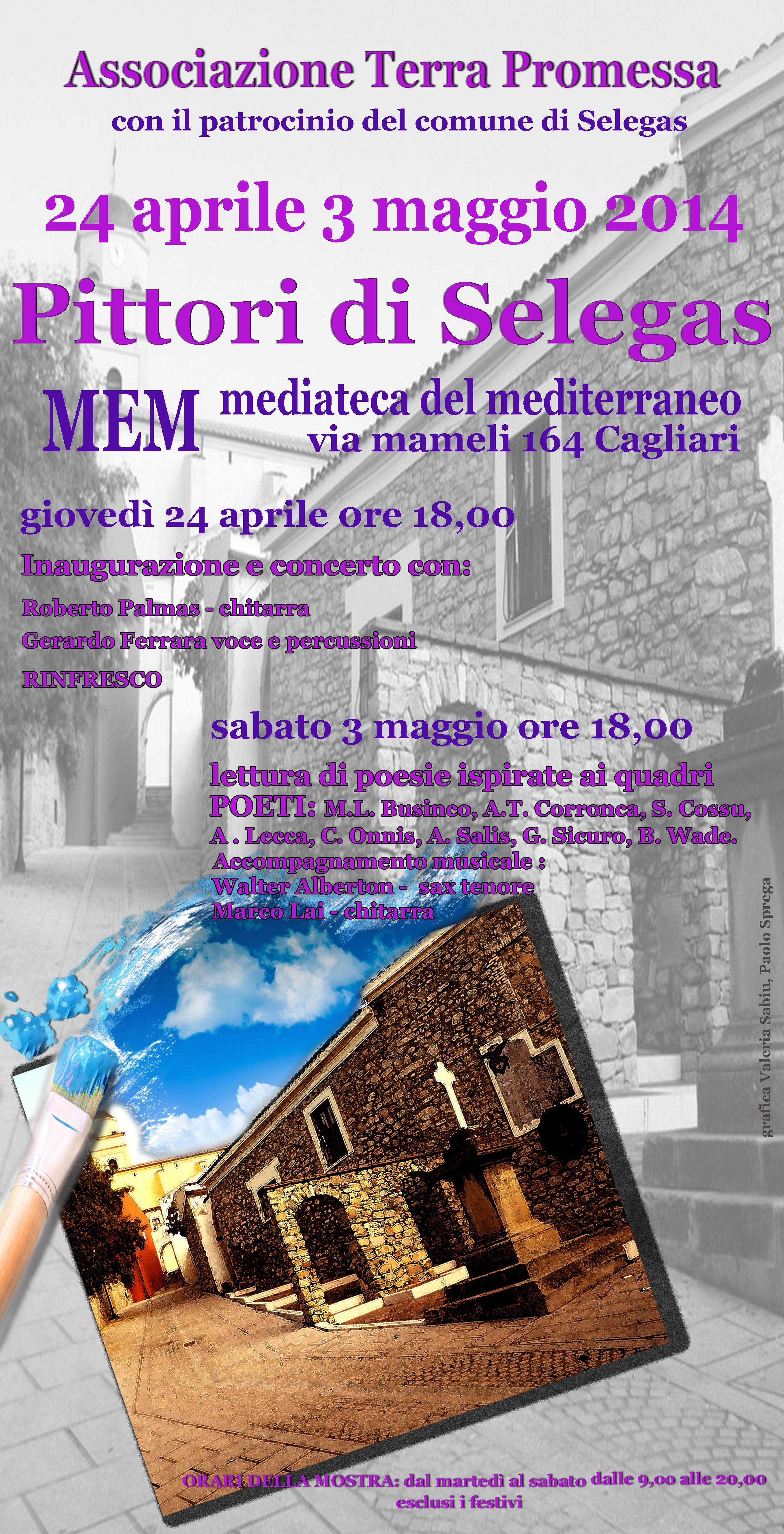 Pittori di Selegas al MEM di Cagliari dal 24 aprile al 3 maggio 2014