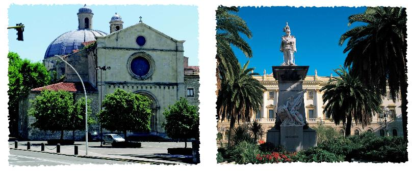 Santa Maria di Betlem e Piazza d'Italia Sassari Turismo
