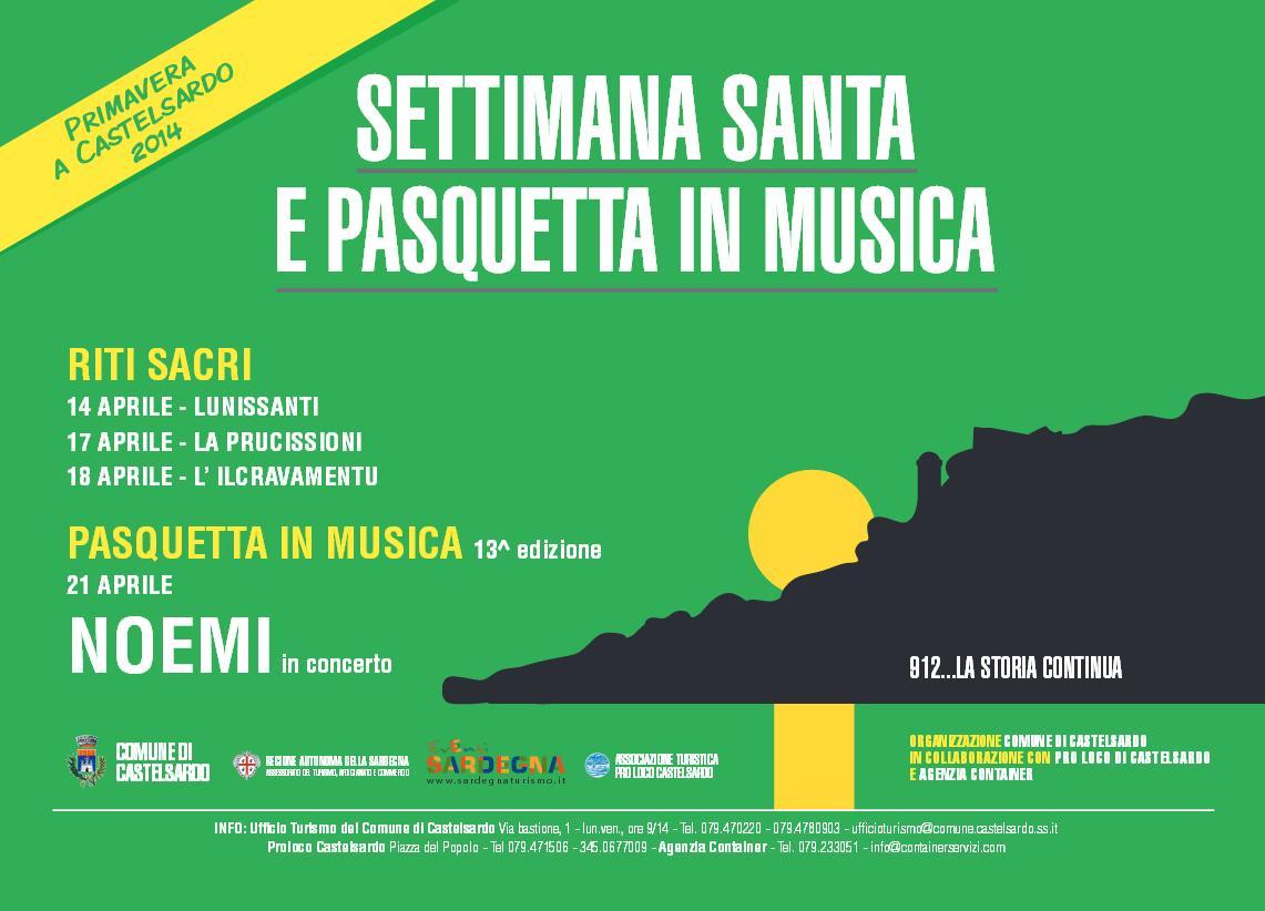 Settimana Santa e Pasquetta in Musica a Castelsardo - Primavera a Castelsardo 2014