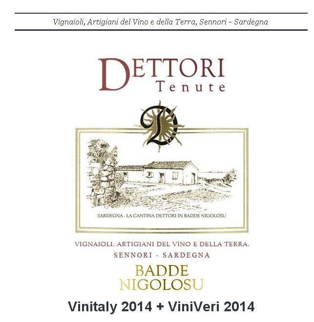 Tenute Dettori Sennori (SS) presenti al Vinitaly 2014 e ViniVeri 2014