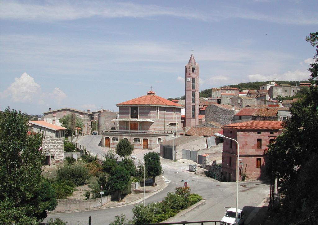 Veduta della chiesa parrocchiale intitolata a San Giovanni Battista comune di Bidonì Oristano Sardegna