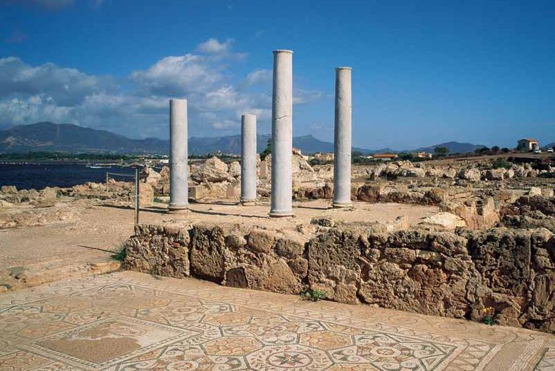 Pula zona archeologica citta di Nora
