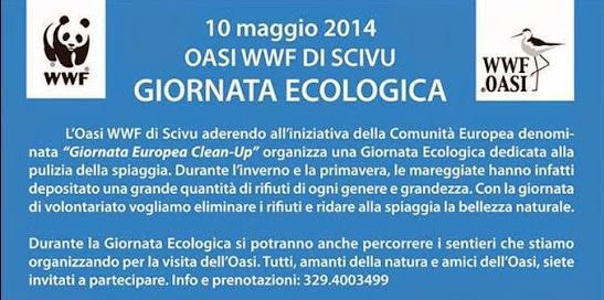 10 maggio 2014 Giornata Ecologica OASI DI SCIVU