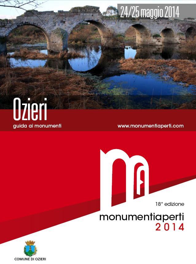 24 e 25 maggio 2014 Ozieri Guida ai Monumenti Aperti