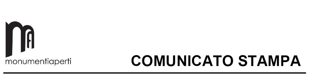 Comunicato Stampa Monumenti Aperti 2014