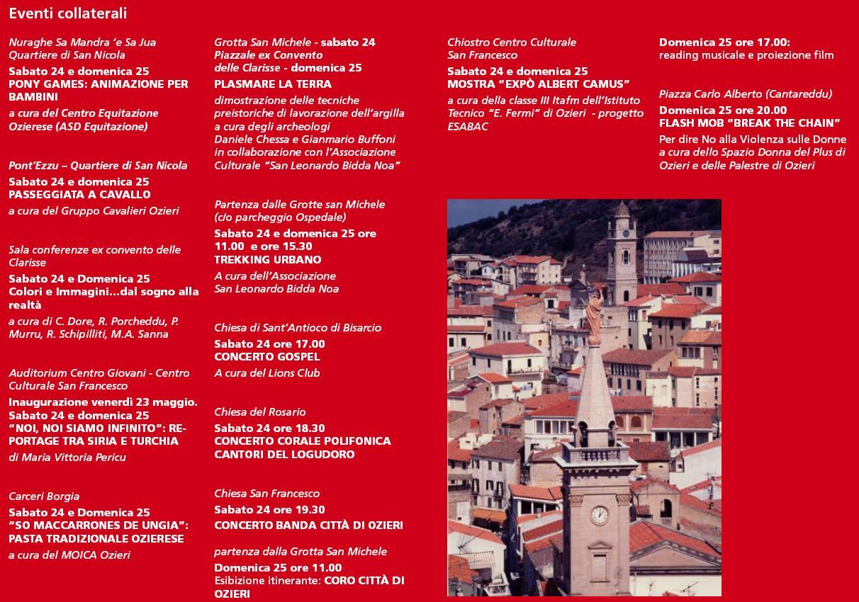 Eventi Collaterali Monumenti Aperti Ozieri 24 e 25 maggio 2014
