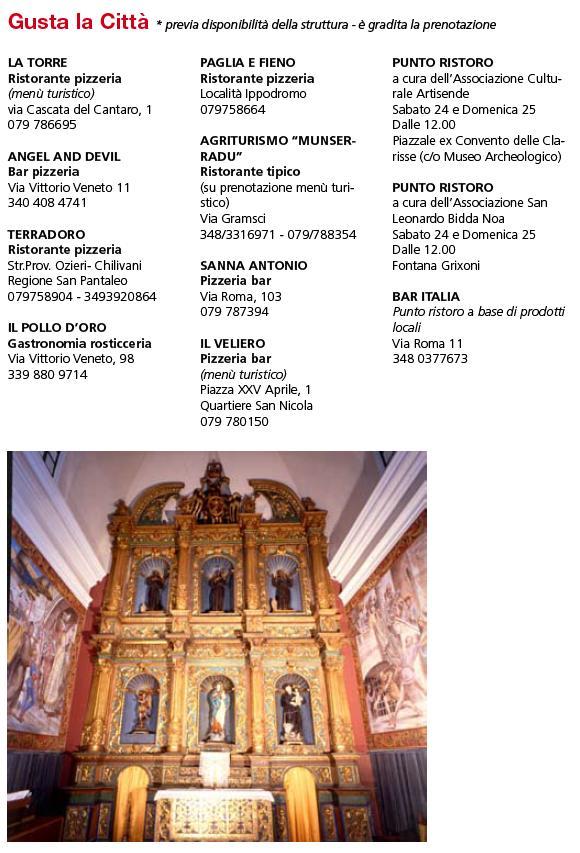 Gusta La Città Monumenti Aperti 24 e 25 maggio 2014 Ozieri 2014