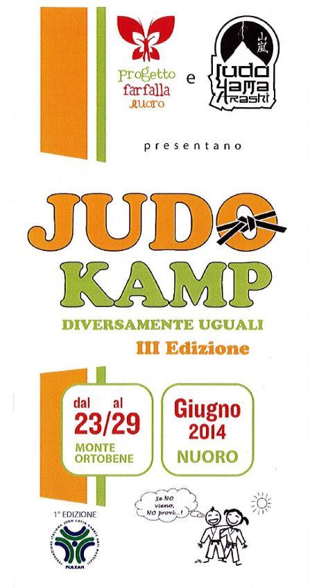 Judo Camp Diversamente Abili III Edizione dal 23 al 29 giugno 2014 Nuoro