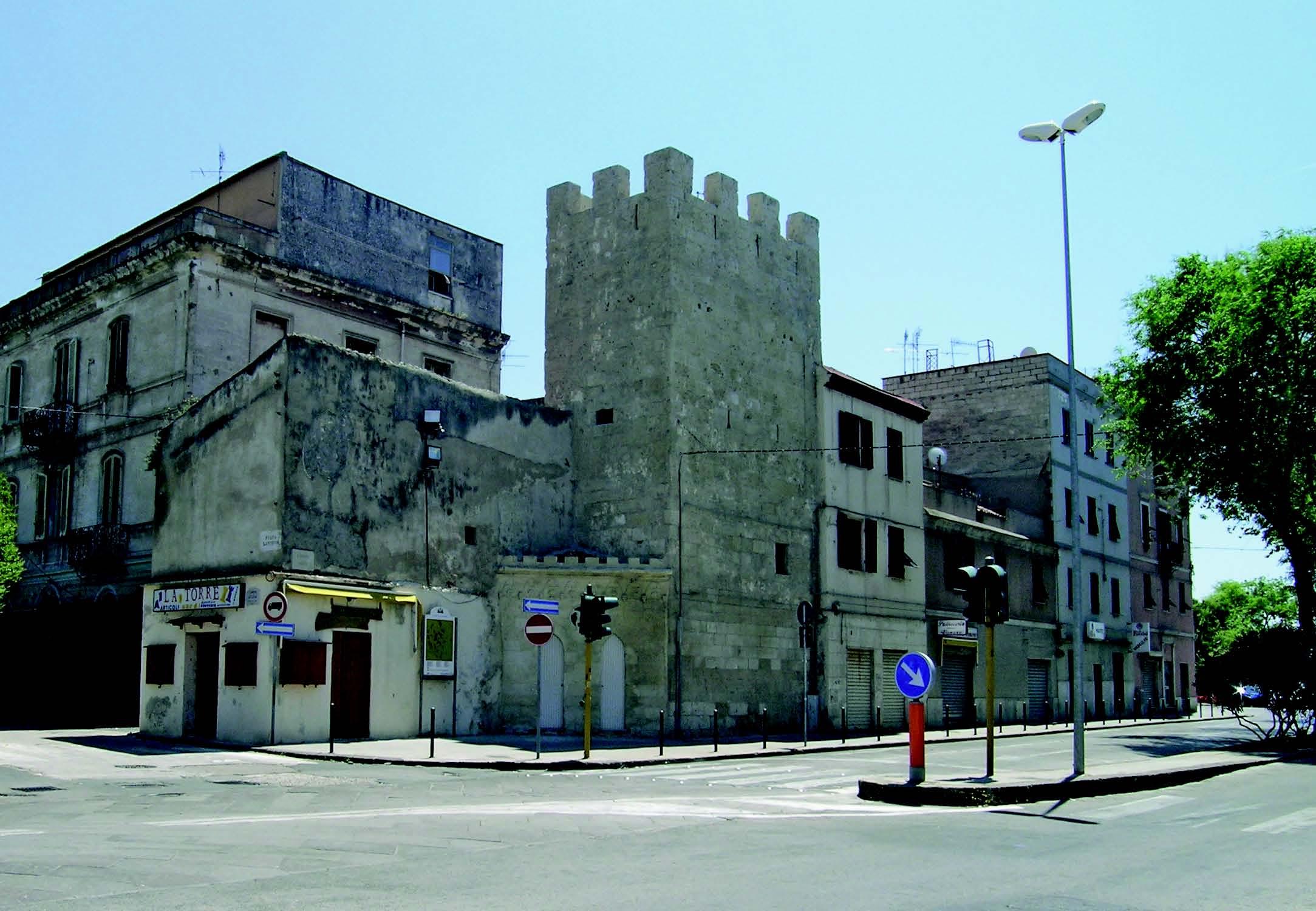 La torre merlata di Porta Sant Antonio comune di Sassari