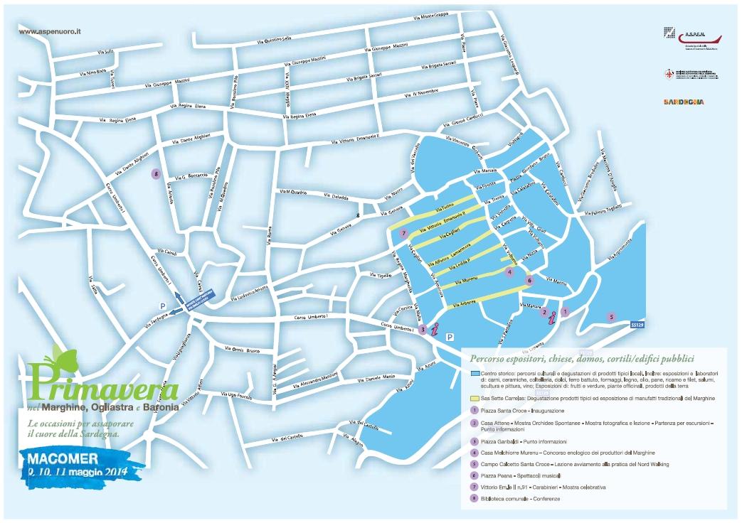 Primavera Marghine 2014 - Macomer cartina della citta