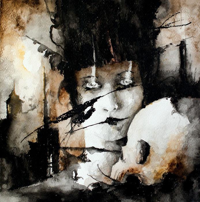 """Veins and Skulls Breath acquerello su carta 2013 Cagliari: Centro Comunale d'Arte e Cultura Exmà """"Veins and Skulls"""" personale di Daniele Serra dal 16 maggio al 6 giugno 2014"""