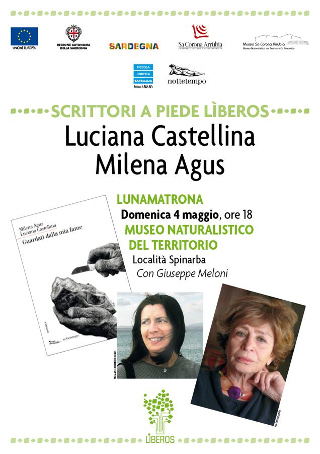 """Milena Agus e Luciana Castellina presentano """"Guardati dalla mia fame"""" - Domenica 4 maggio 2014 alle ore 18 presso il Museo del territorio """"G. Pusceddu""""."""