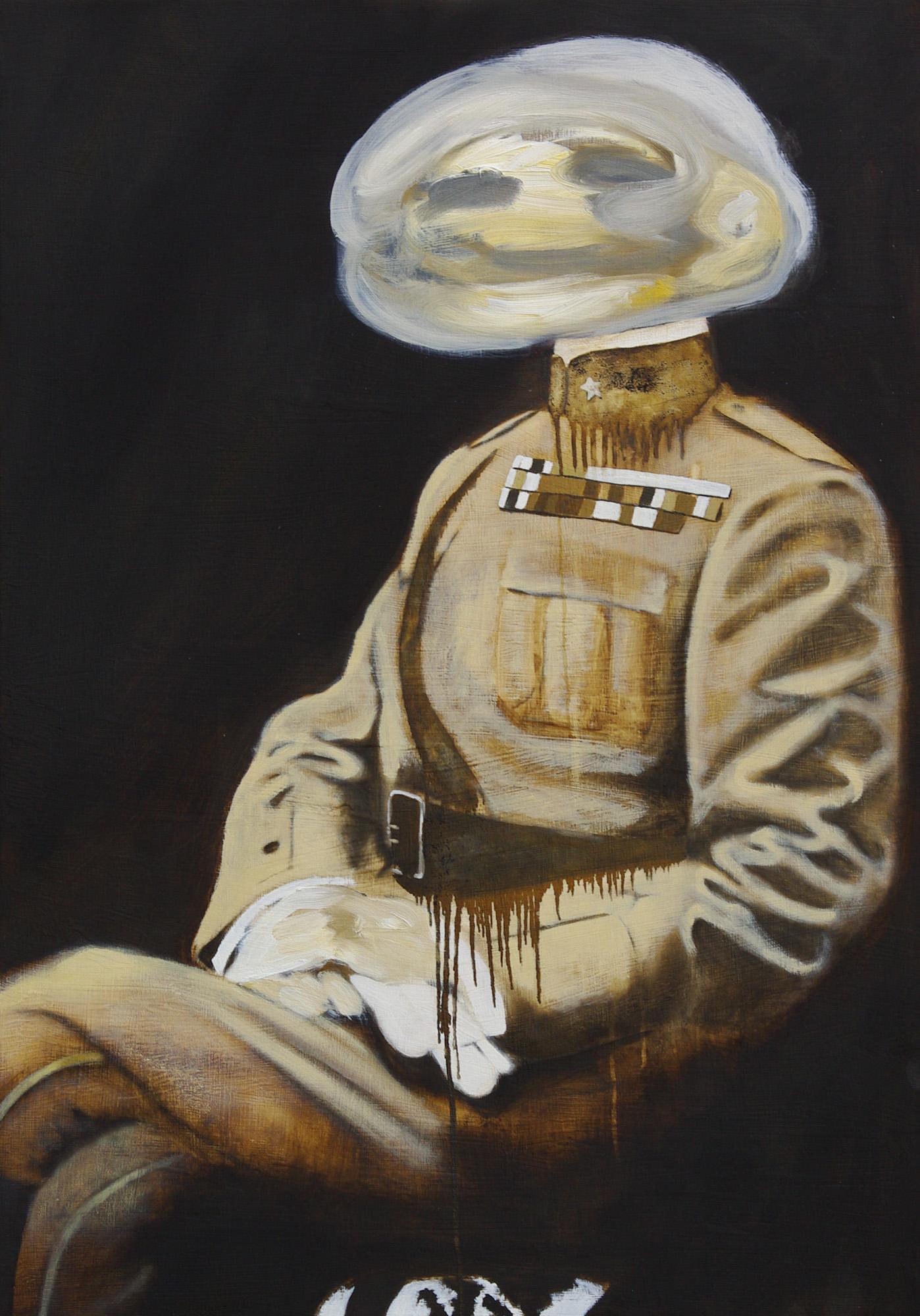 Il Generale, Olio su tavola, 88x125, 2014