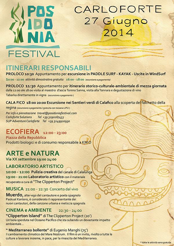 Programma Posidonia Festival Carloforte 27 giugno 2014