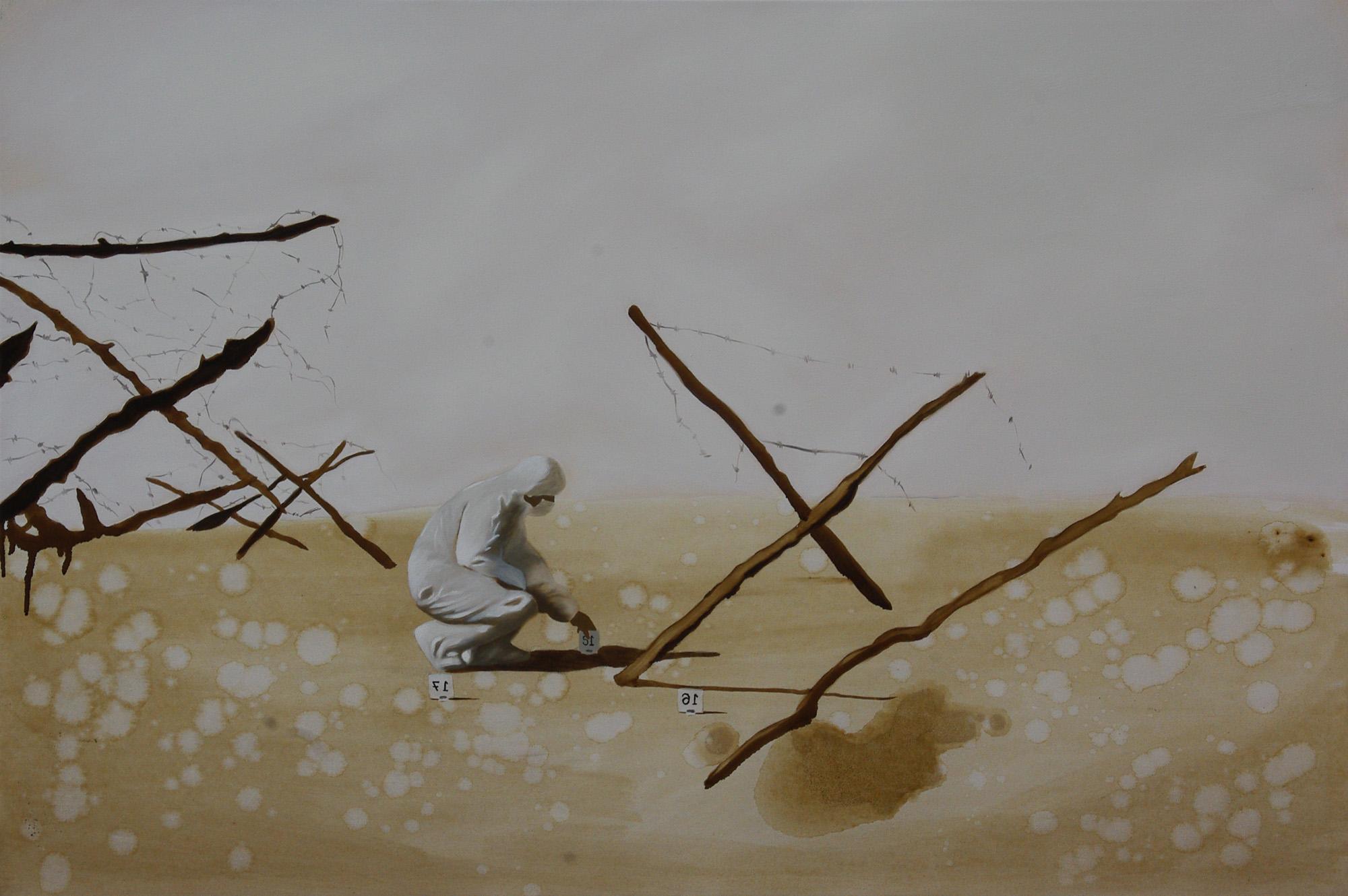 Scena di trincea, Olio su tela, 120x80, 2014