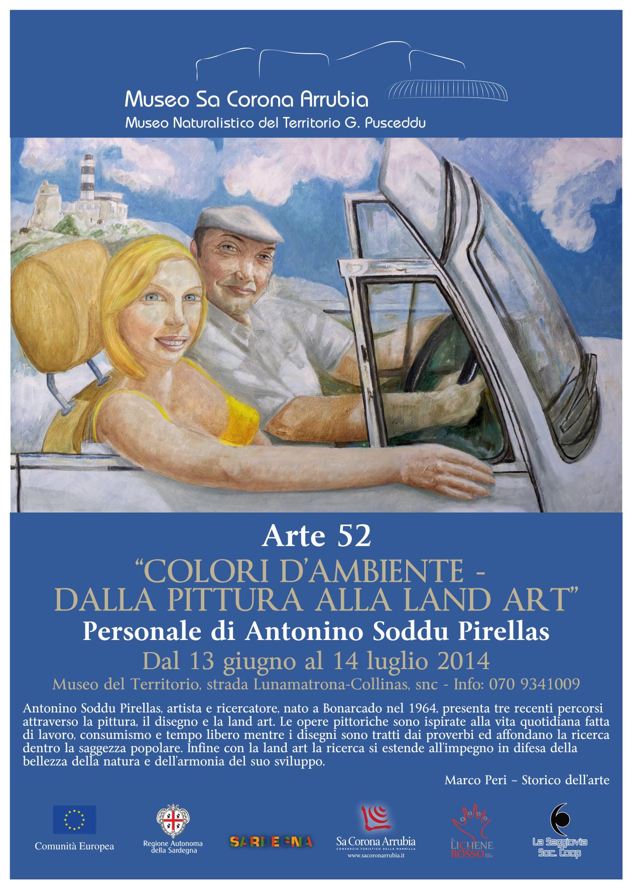 """Personale di Antonino Soddu Pirellas al Museo naturalistico del territorio """"G. Pusceddu"""" dal 13 giugno al 14 luglio 2014"""