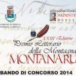 """Il Comune di Desulo organizza la XXIII^ edizione del Premio Letterario della Montagna """"Montanaru"""" – Desulo il 1 novembre 2014."""