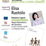 """ELISA RUOTOLO A PIEDE LÌBEROS IN ÉNTULA: presentazione del libro """"Ovunque, proteggici"""""""
