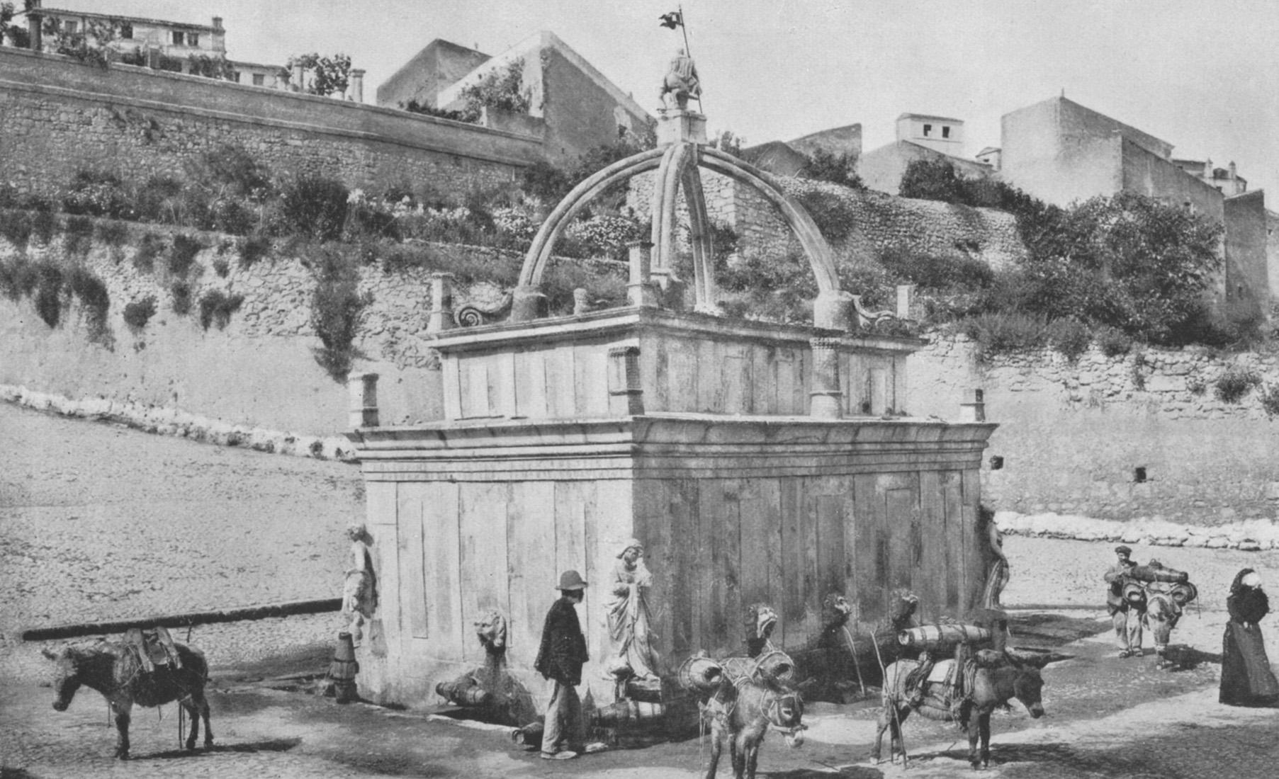 Sassari tradizione e storia Fontana di Rosello foto storica