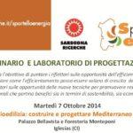"""Seminario """"Bioedilizia: costruire e progettare Mediterraneo II"""" martedì 7 ottobre 2014 a Iglesias (CI)"""
