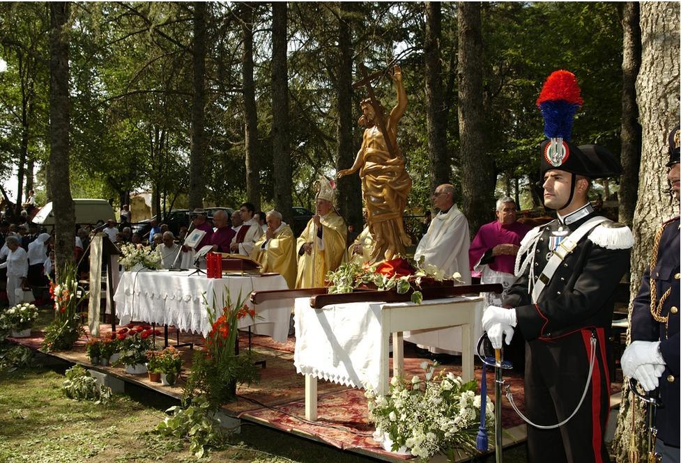 Sul Monte Ortobene viene celebrata la Messa solenne
