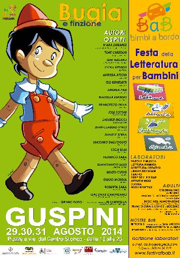 Guspini 29 30 31 agosto 2014 BimbiaBordo Festa della Letteratura per Bambini