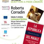 """Il Museo Naturalistico del Territorio """"G. Pusceddu"""" ospiterà sabato 4 ottobre 2014 la scrittrice Roberta Corradin autrice di """"La repubblica del maiale"""""""