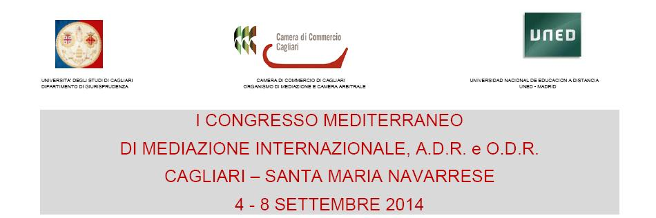 Cagliari dal 4 all'8 settembre 2014 il primo Congresso Mediterraneo sulla mediazione