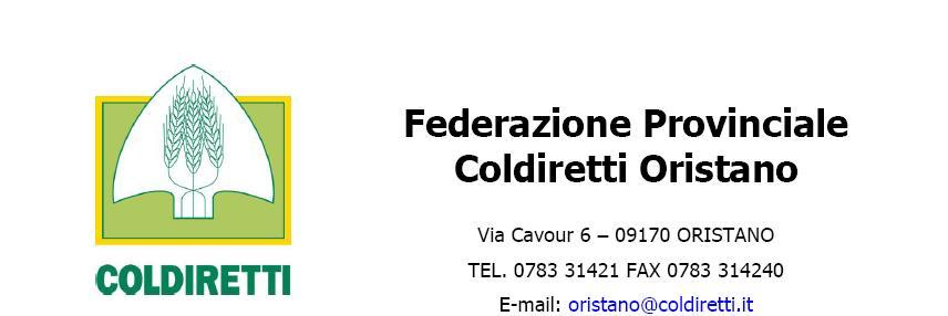 Federazione Provinciale Coldiretti Oristano Convegno Visna Maedi venerdì 12 settembre 2014 ad Abbasanta