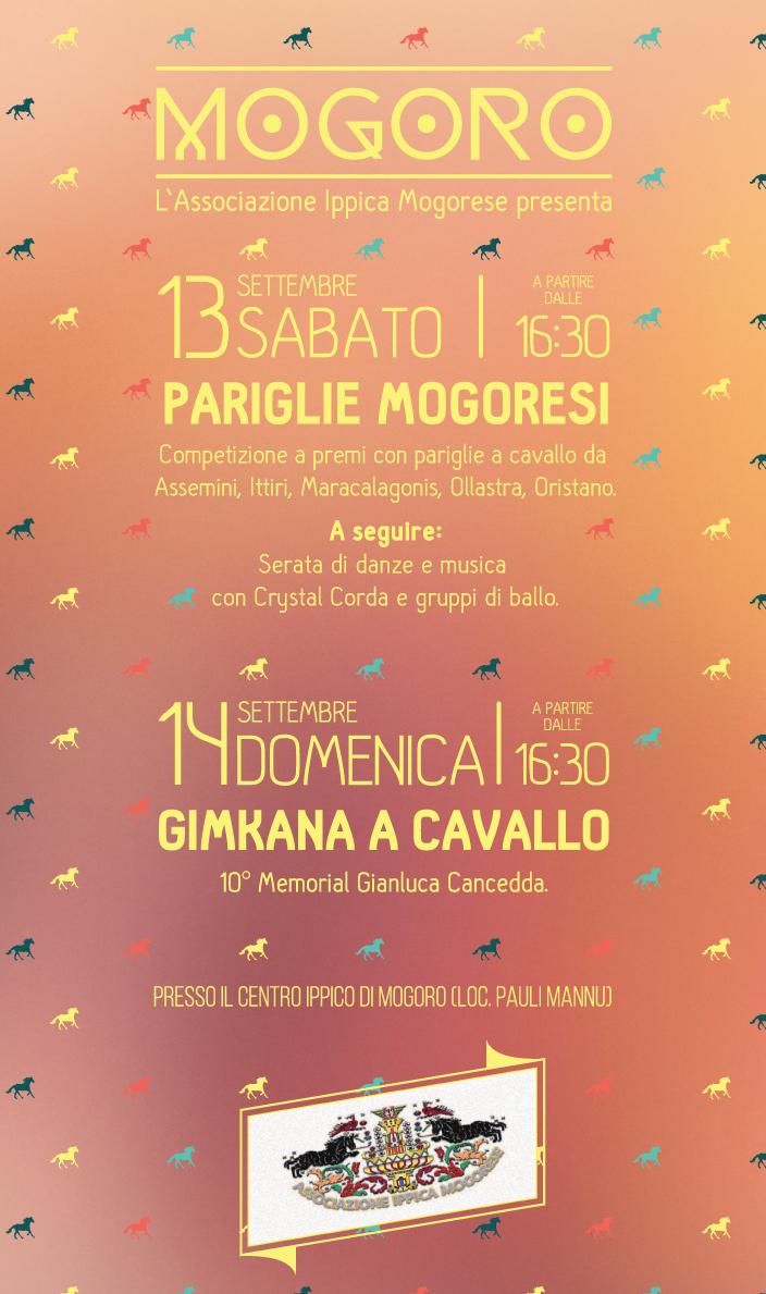A Mogoro 13/14 settembre 2014 un weekend di pariglie a cavallo e danze per salutare l'estate Pariglie Mogoresi